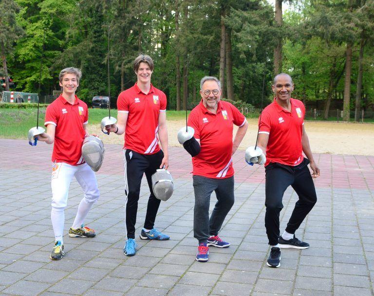 trainers vlnr: Thijmen, Quinton, Georges, Yoslier